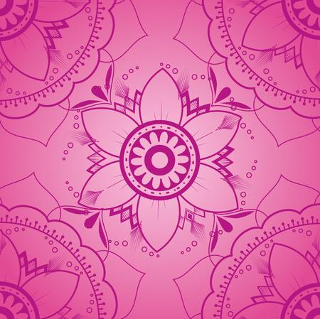 カラーマンダラパターン背景ベクトルイラストデザイン  イラスト・ベクター素材