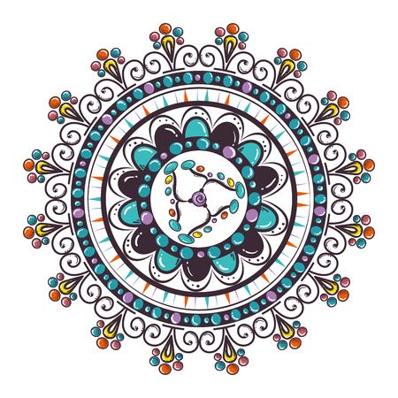 Color mandala decorative icon vector illustration design Banque d'images - 95540484