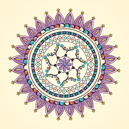 Color mandala decorative icon vector illustration design Stock fotó - 95540483