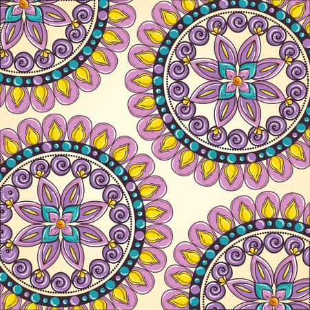 Color mandala pattern background vector illustration design Illustration