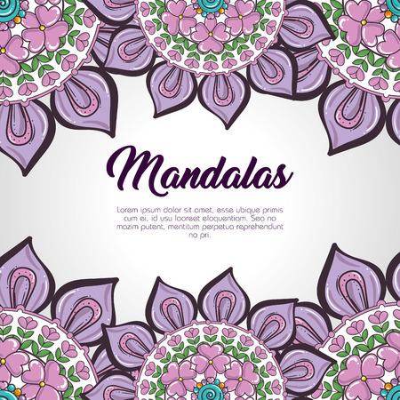 Color mandala pattern background vector illustration design Illusztráció