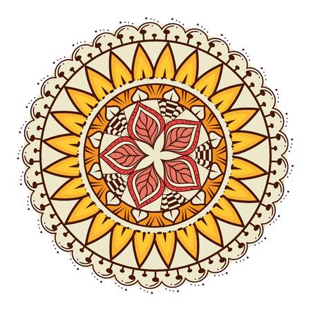 Color mandala decorative icon vector illustration design Banque d'images - 95540496