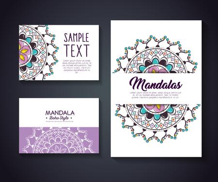Mandala boho style vector illustration design Illustration