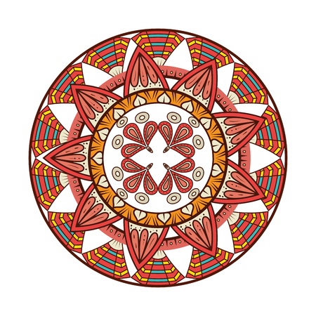 Color mandala decorative icon vector illustration design Banque d'images - 95541075