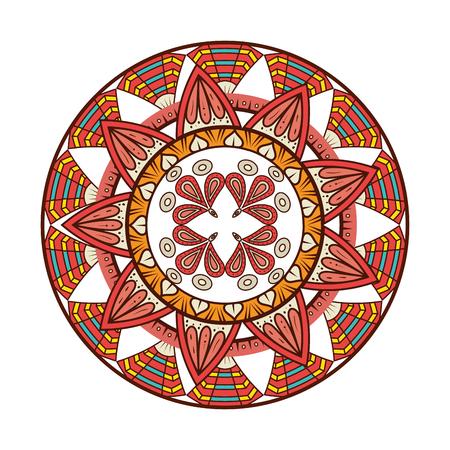 Color mandala decorative icon vector illustration design Stok Fotoğraf - 95541075