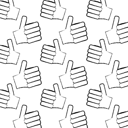 hands showing like making thumb up gesture collection vector illus  イラスト・ベクター素材