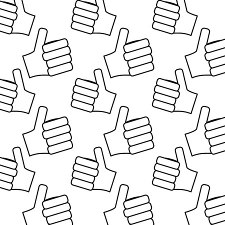 Hands showing like making thumb up gesture collection vector illus