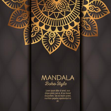 golden mandala decorative icon vector illustration design Illustration