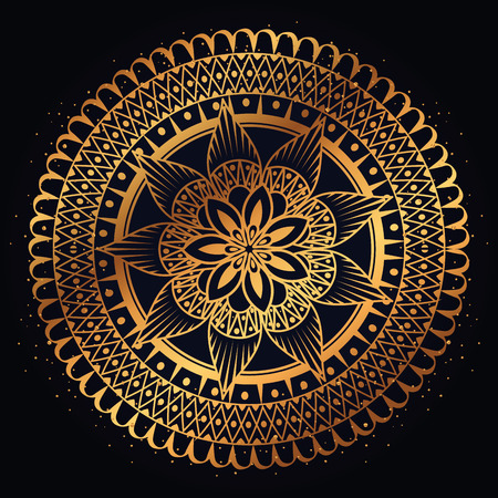 golden mandala decorative icon vector illustration design Иллюстрация