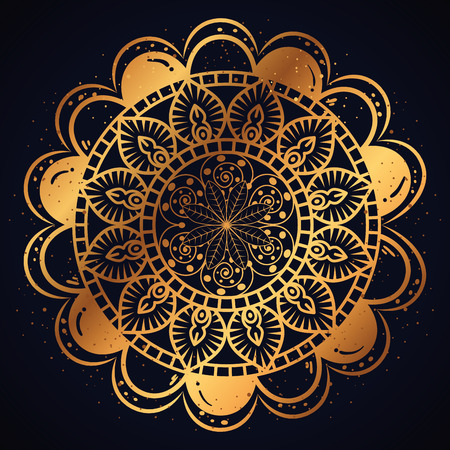 golden mandala pattern background vector illustration design
