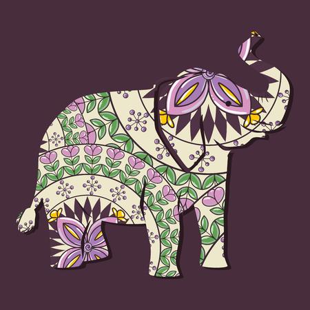elephant mandala boho style vector illustration design