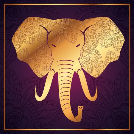 Elephant mandala boho style vector illustration design. Illustration