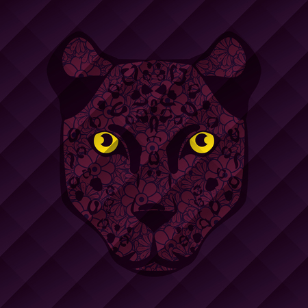 Feline mandala boho style vector illustration design.