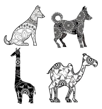 Animals with skin boho style vector illustration design. Foto de archivo - 95666710