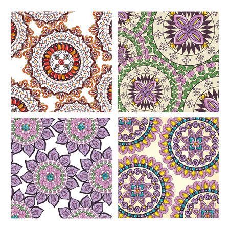 Color mandala pattern background vector illustration design. Illustration