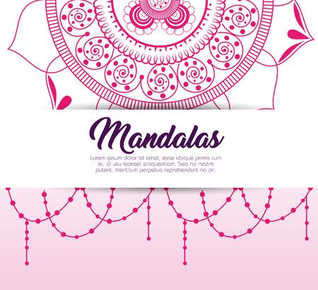 Color mandala pattern background vector illustration design. 向量圖像
