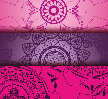 Color mandala pattern background vector illustration design. Illustration