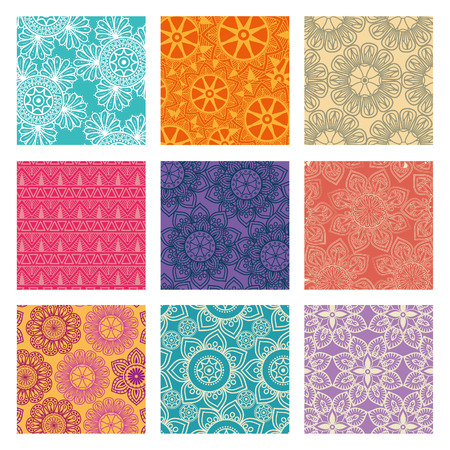 Color mandala pattern background vector illustration design Illustration