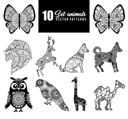 Animals with skin boho style vector illustration design.