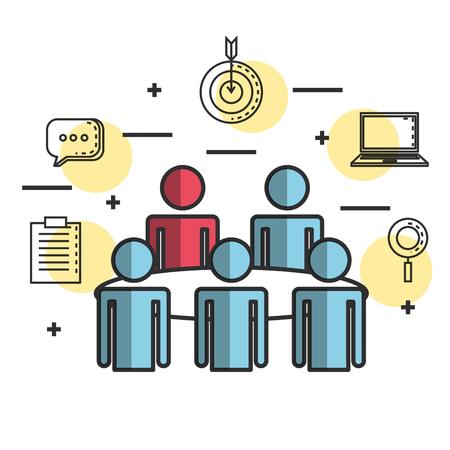 engage business set icons vector illustration design 矢量图像