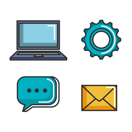 Engage business set icons vector illustration design.
