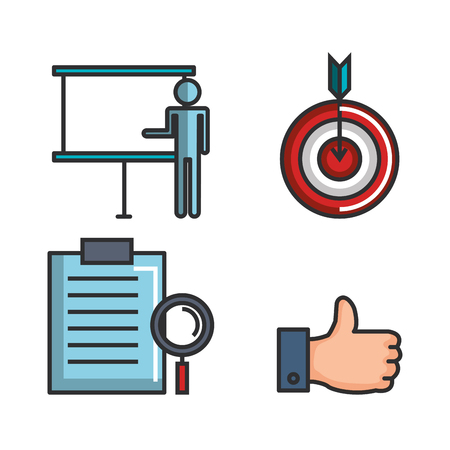 Engage business set icons vector illustration design.