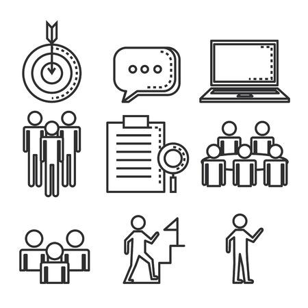 engage business set icons vector illustration design Vektorové ilustrace