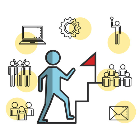 engage business set icons vector illustration design Vectores