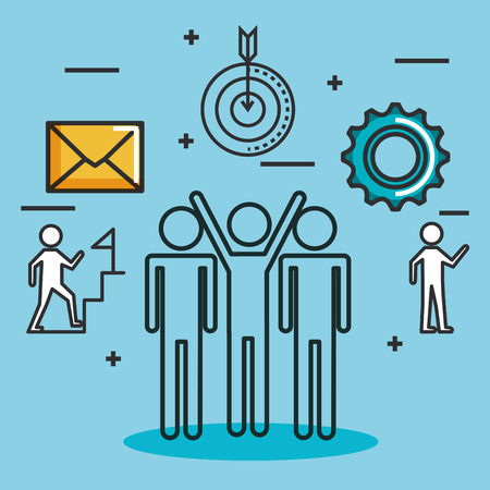 engage business set icons vector illustration design Ilustrace