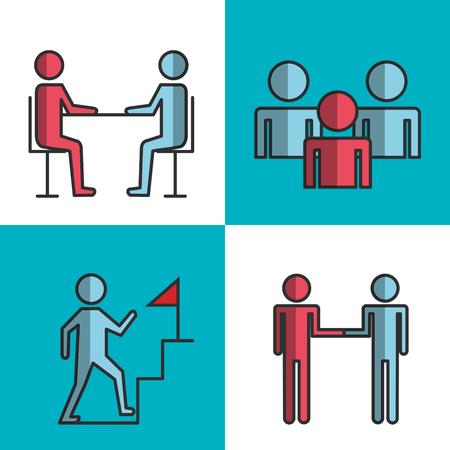 engage business set icons vector illustration design 일러스트