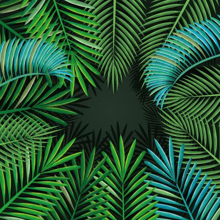 Tropische und exotische Palmen Blätter Vektor-Illustration Design Standard-Bild - 95687763