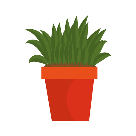 bush cultivated in pot vector illustration design