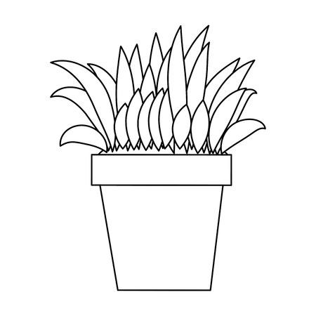 Bush cultivated in pot vector illustration design Stok Fotoğraf - 95538262