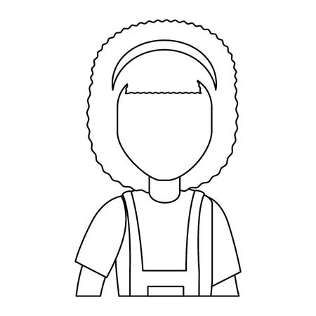 Female gardener with overalls avatar character vector illustration design 版權商用圖片 - 95536159