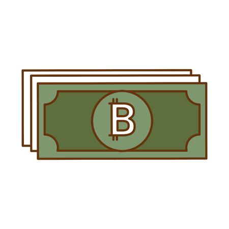 bill virtual money icon vector illustration design