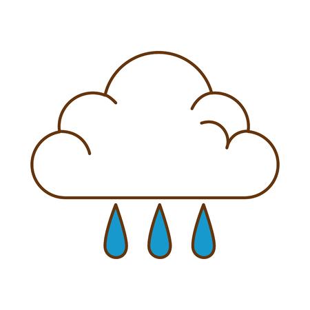 weather cloud rainy icon vector illustration design Illustration