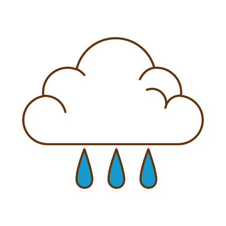 weather cloud rainy icon vector illustration design Ilustração