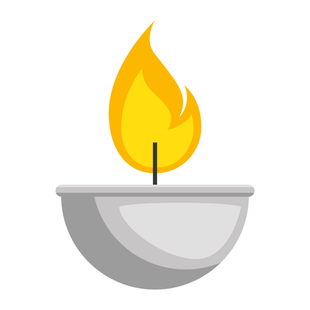 candle flame isolated icon vector illustration design Foto de archivo - 95585739
