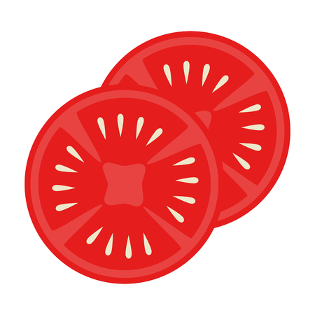 tomatoes slices isolated icon vector illustration design