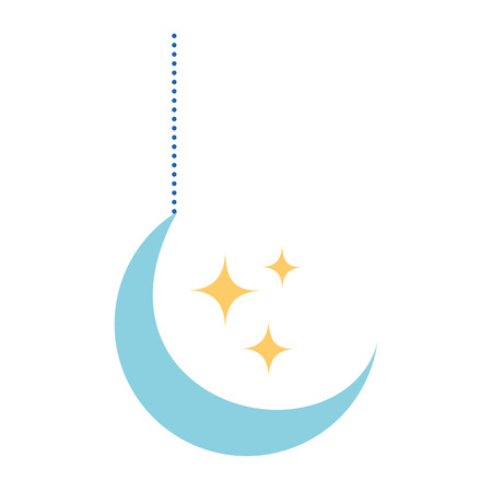 moon and stars hanging decoration vector illustration design Banque d'images - 95585745