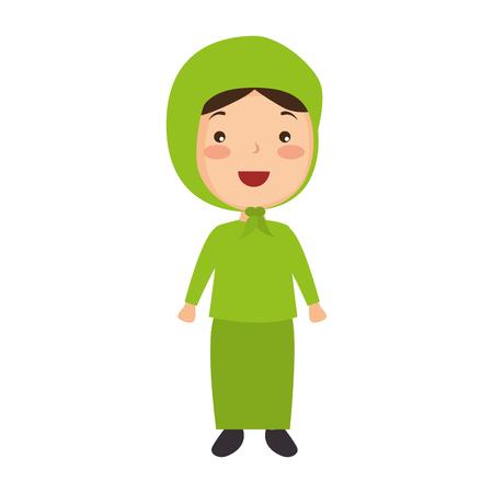 Muslimische Mädchen avatar Charakter Vektor-Illustration Design Standard-Bild - 95585755