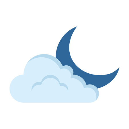 moon with cloud icon vector illustration design