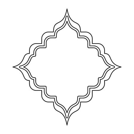 rhombus frame decorative icon vector illustration design Illustration