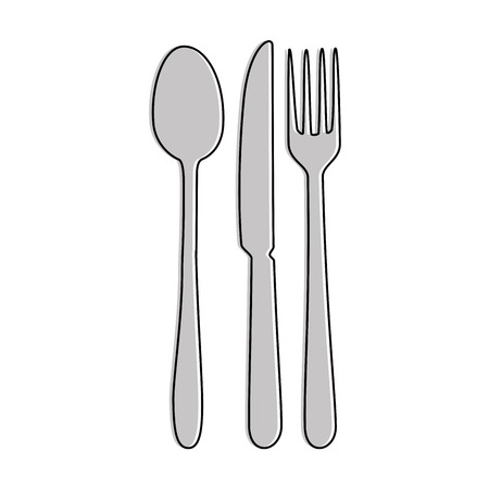 set cutlery isolated icon vector illustration design Ilustração