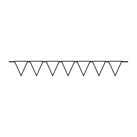 パーティーガーランド装飾ハンギングベクトルイラストデザイン