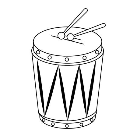 tropical drum instrument icon vector illustration design