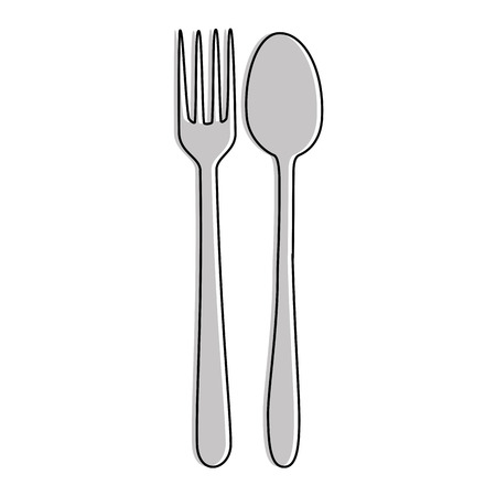 fork and spoon cutlery isolated icon vector illustration design