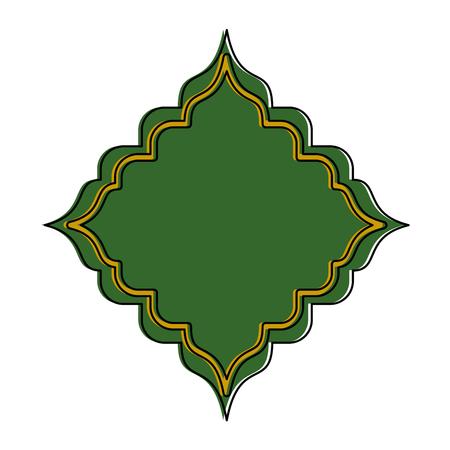 Rhombus frame decorative icon vector illustration design