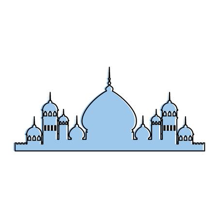Taj mahal silhouette icon vector illustration design 版權商用圖片 - 95616986