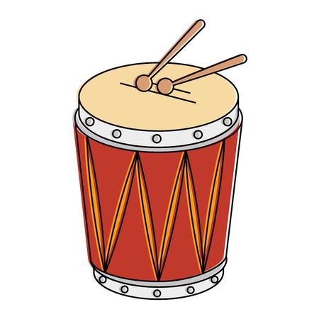 Instrument à tambour tropical icône vector illustration design